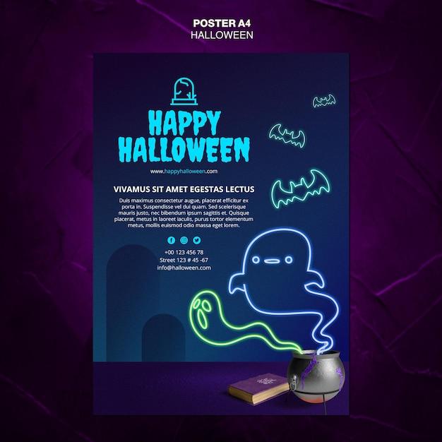 Modèle D'affiche D'événement Halloween Psd gratuit