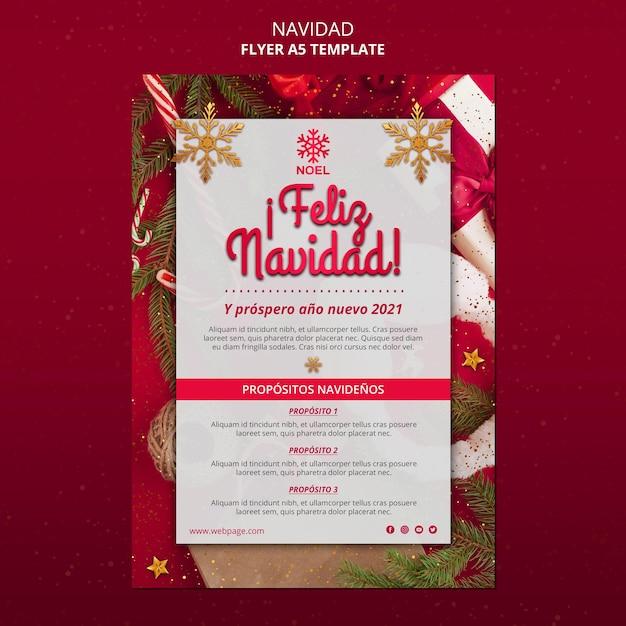 Modèle D'affiche Feliz Navidad Psd gratuit