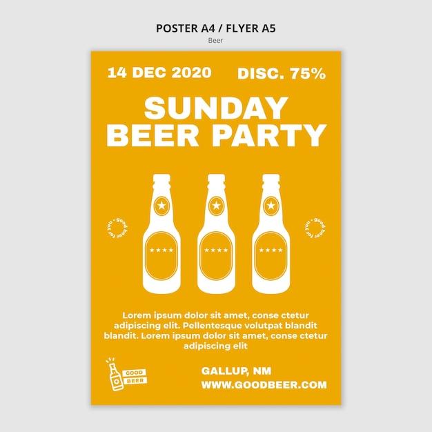 Modèle D'affiche De Fête De La Bière Psd gratuit