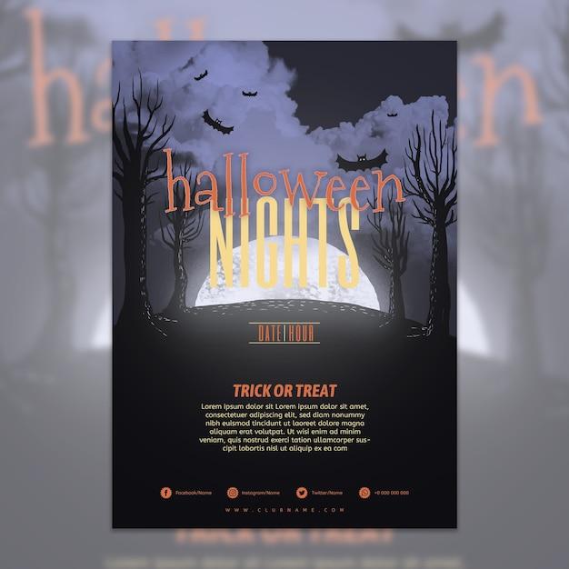 Modèle D'affiche Fête Halloween Psd gratuit