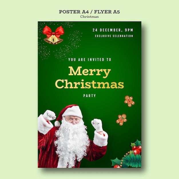 Modèle D'affiche Fête De Noël Psd gratuit