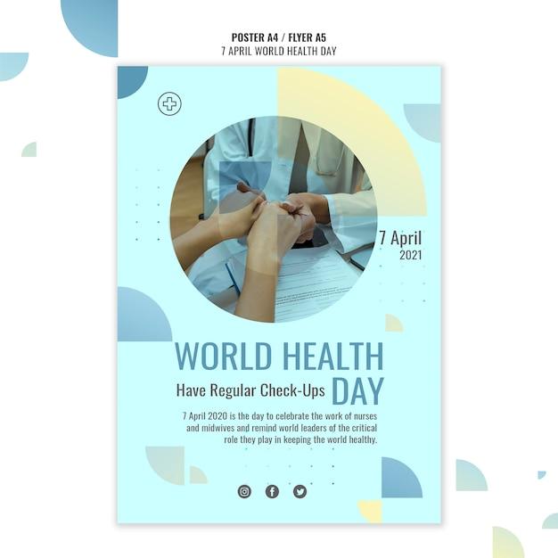 Modèle D'affiche De La Journée Mondiale De La Santé Avec Photo PSD Premium