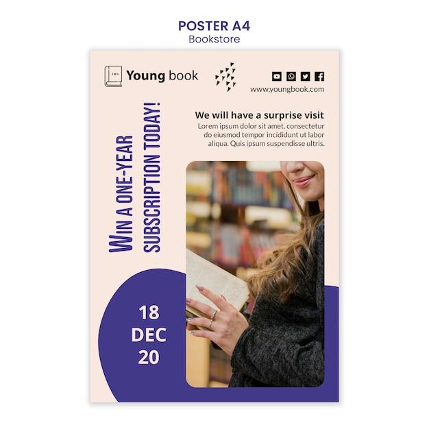 Modèle D'affiche De Librairie Psd gratuit