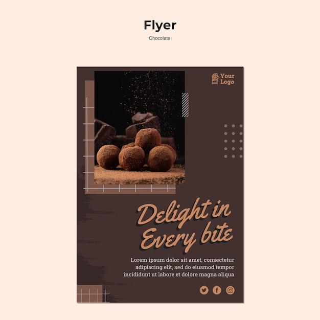 Modèle D'affiche De Magasin De Chocolat Psd gratuit