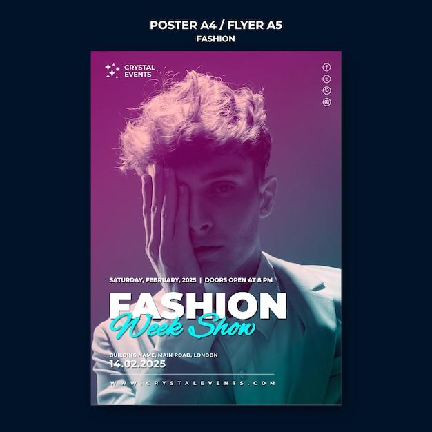 Modèle D'affiche De Mode Psd gratuit