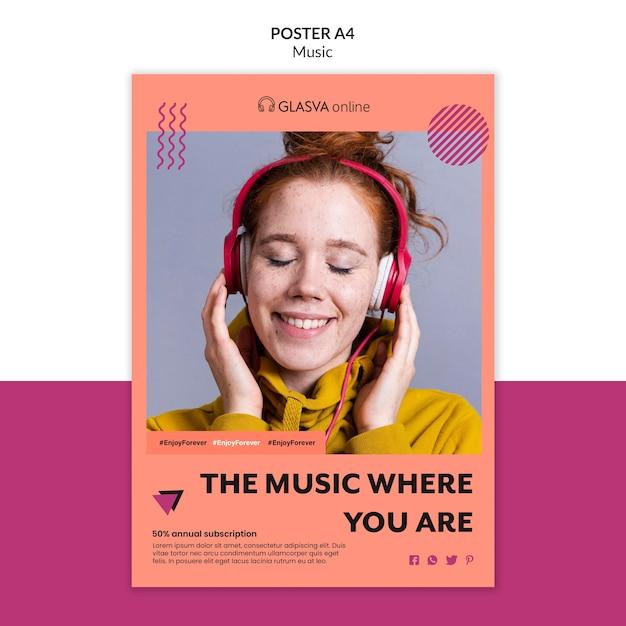 Modèle D'affiche De Musique Psd gratuit