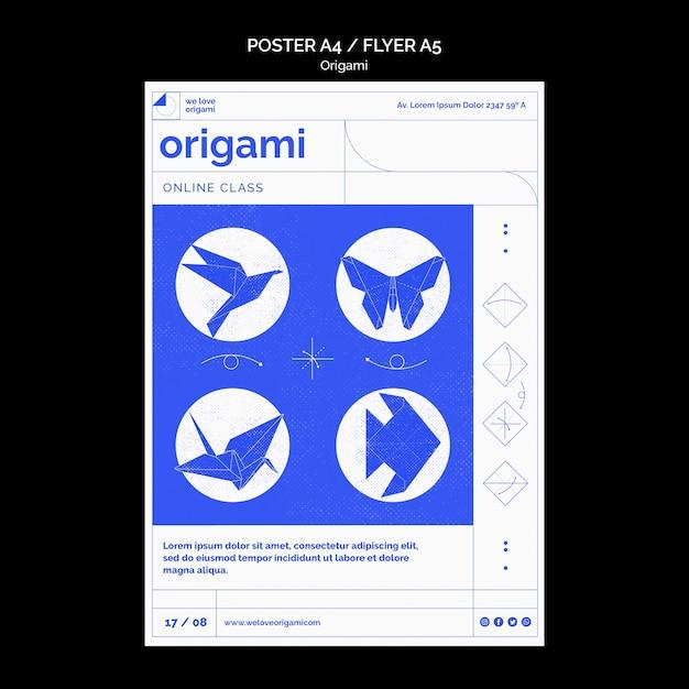 Modèle D'affiche En Origami Psd gratuit