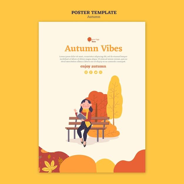 Modèle D'affiche Pour Les Activités D'automne En Plein Air Psd gratuit