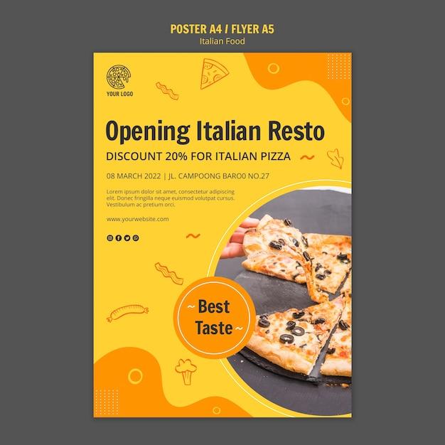 Modele D Affiche Pour Un Bistrot De Cuisine Italienne Psd Gratuite