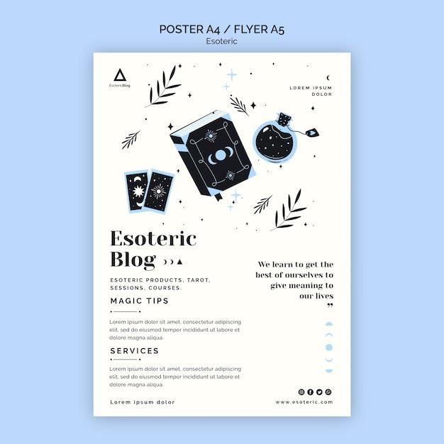 Modèle D'affiche Pour Blog ésotérique Psd gratuit