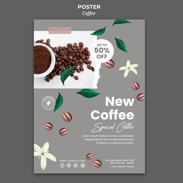 Modèle D'affiche Pour Le Café Psd gratuit