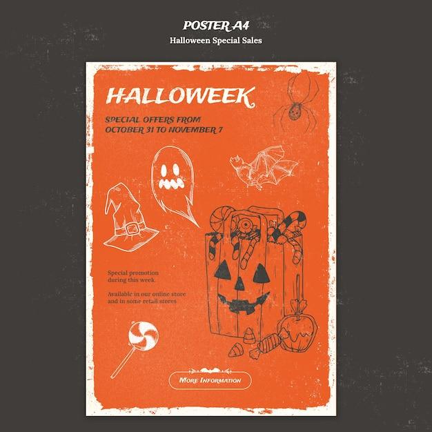 Modèle D'affiche Pour Halloweek Psd gratuit