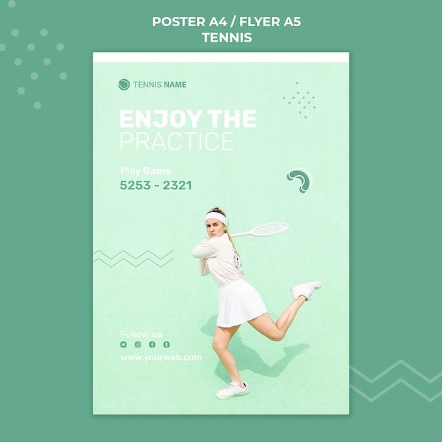 Modèle D'affiche De Pratique De Tennis Psd gratuit