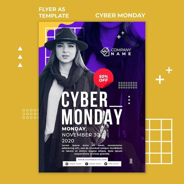 Modèle D'affiche Publicitaire Cyber Monday Psd gratuit