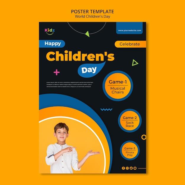 Modèle D'affiche Publicitaire Pour La Journée Des Enfants Psd gratuit