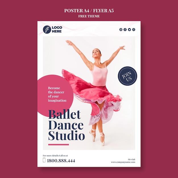 Modèle D'affiche De Studio De Danse Psd gratuit
