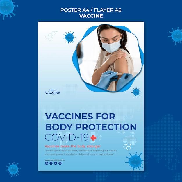 Modèle D'affiche De Vaccin Psd gratuit