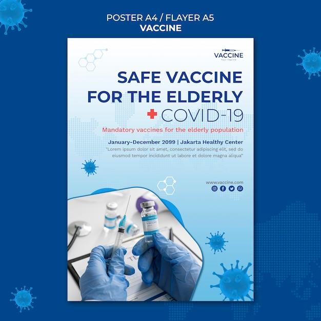 Modèle D'affiche De Vaccin PSD Premium