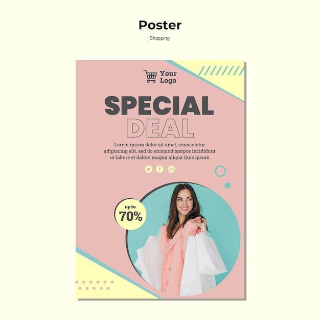 Modèle D'affiche De Vente Spéciale Shopping Psd gratuit