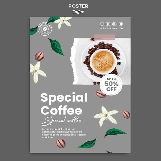 Modèle D'affiche Verticale Pour Café Psd gratuit