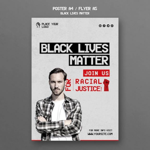 Modèle D'affiche De Vie Noire Psd gratuit