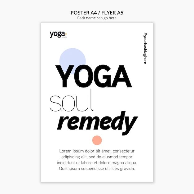 Modèle D'affiche De Yoga Soul Remède Psd gratuit