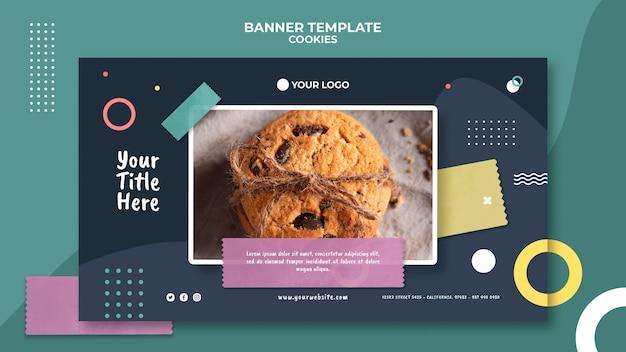 Modèle D'annonce De Bannière Cookie Shop Psd gratuit