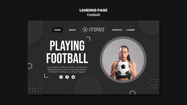 Modèle D'annonce De Football De Page De Destination Psd gratuit