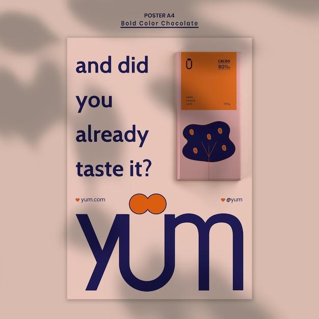 Modèle D'annonce De Magasin De Chocolat Affiche Psd gratuit