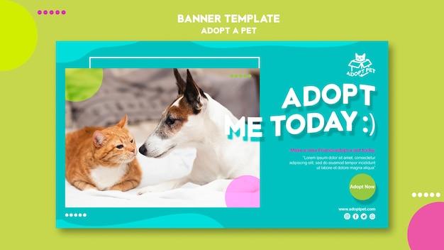 Modèle De Bannière D'adoption D'animaux Psd gratuit
