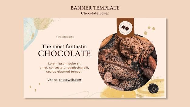 Modèle De Bannière D'amant De Chocolat Psd gratuit