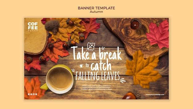 Modèle De Bannière D'automne Psd gratuit