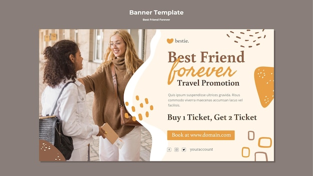 Modèle De Bannière Best Friends Forever PSD Premium