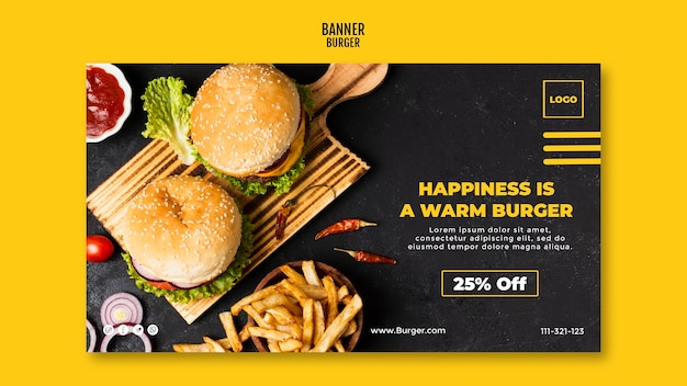 Modèle De Bannière Burger Psd gratuit