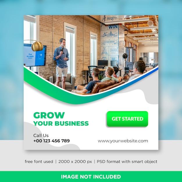 Modèle de bannière business social media PSD Premium