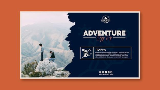 Modèle de bannière avec concept d'aventure Psd gratuit