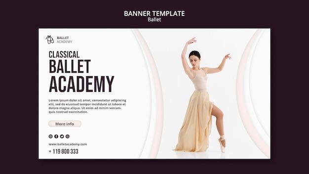 Modèle De Bannière De Concept De Ballet Psd gratuit