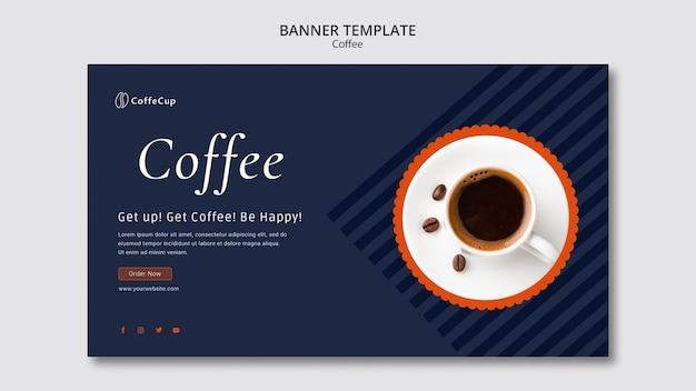 Modèle De Bannière Avec Concept De Café Psd gratuit