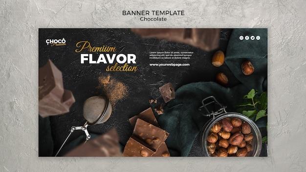 Modèle De Bannière De Concept De Chocolat Psd gratuit