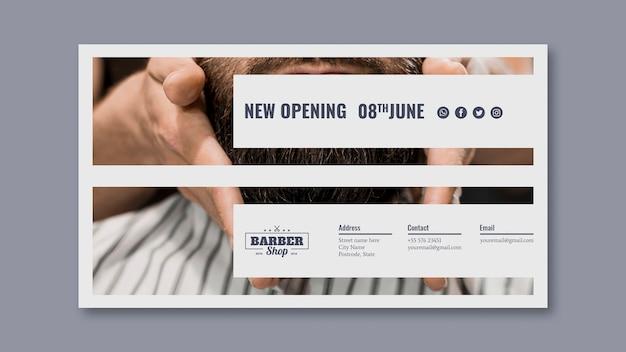 Modèle de bannière avec concept de coiffeur Psd gratuit
