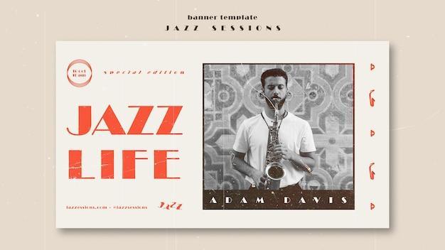 Modèle De Bannière De Concept De Jazz Psd gratuit