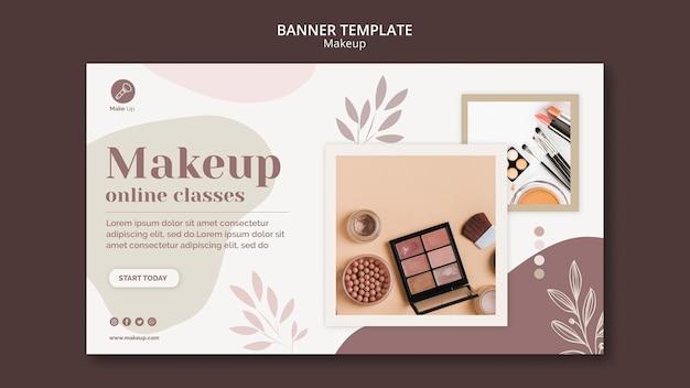 Modèle De Bannière De Concept De Maquillage Psd gratuit