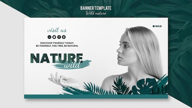 Modèle De Bannière Avec Concept De Nature Sauvage Psd gratuit