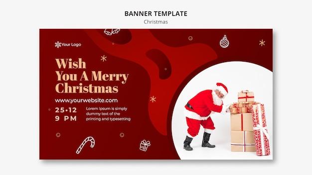 Modèle De Bannière De Concept De Noël Psd gratuit