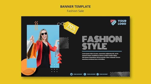 Modèle De Bannière De Concept De Vente De Mode Psd gratuit