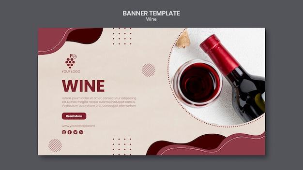 Modèle De Bannière De Concept De Vin Psd gratuit