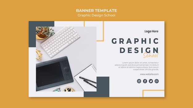 Modèle De Bannière De Conception Graphique PSD Premium