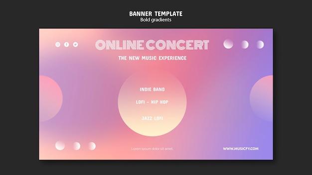 Modèle De Bannière De Concert En Ligne Psd gratuit