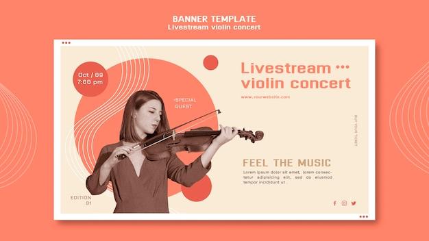 Modèle De Bannière De Concert De Violon Livestream Psd gratuit