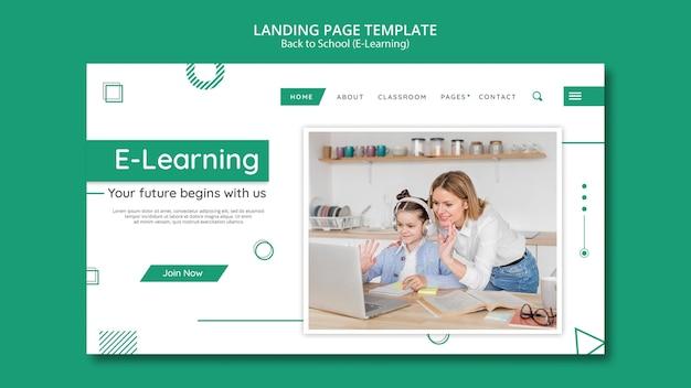 Modèle De Bannière Créative E-learning Psd gratuit